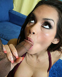 Real messy facial on a hot sexy brunette chick from Fucked Up Facials