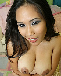 Sexy busty asian chick spreading her ass and pussy from Fucked Up Facials